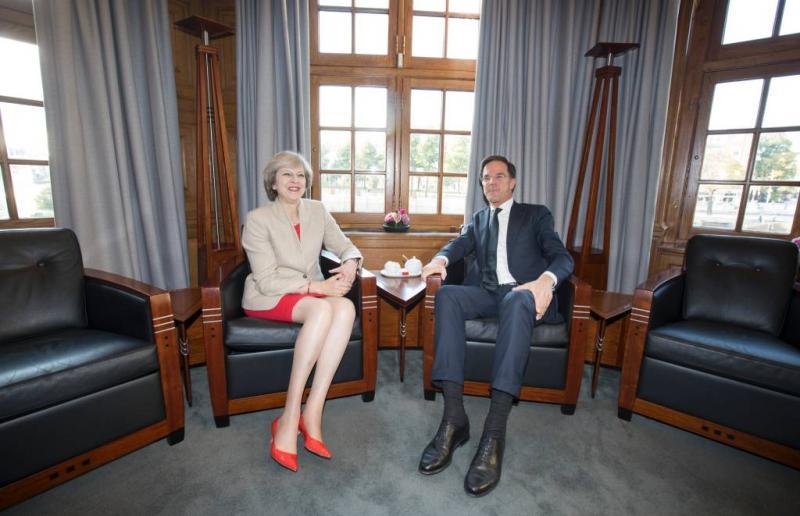Rutte luncht met Britse premier May