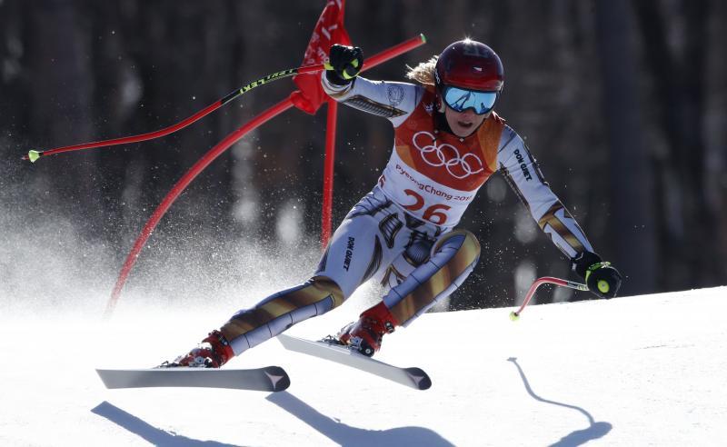 Kan Ester Ledecka na haar gouden medaille op de skies ook een medaille op het snowboard pakken (Pro Shots / Action Images)
