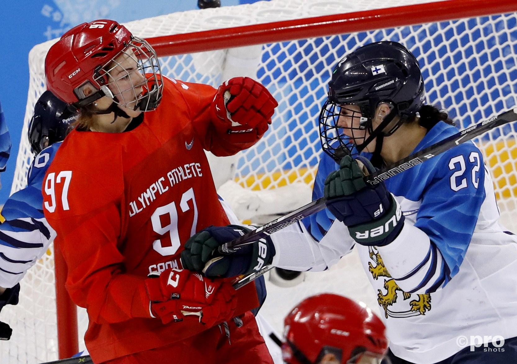 Shokhina (links) had het eerder ook al aan de stick met Emma Nuutinen (Pro Shots/Action Images)