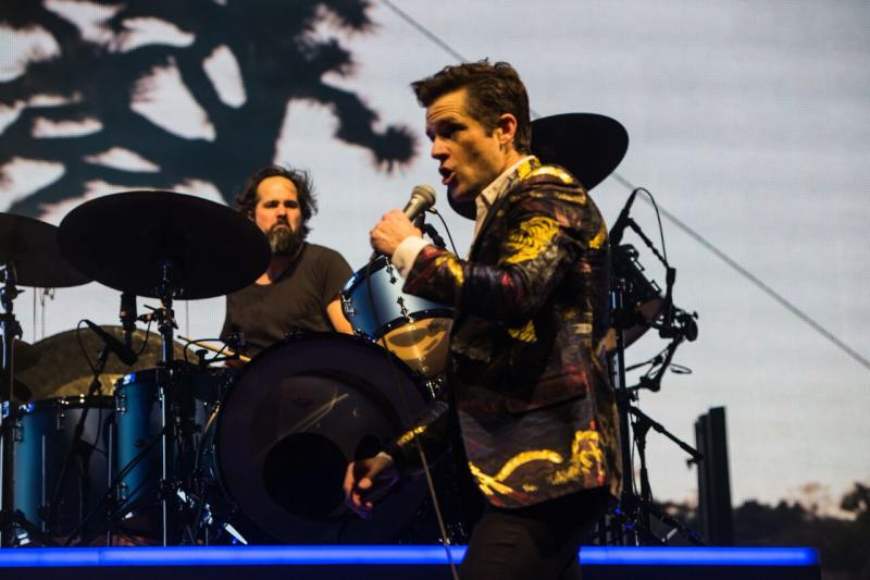 The Killers barsten nog steeds van de energie in de Ziggo Dome (Foto: Rob Loud)