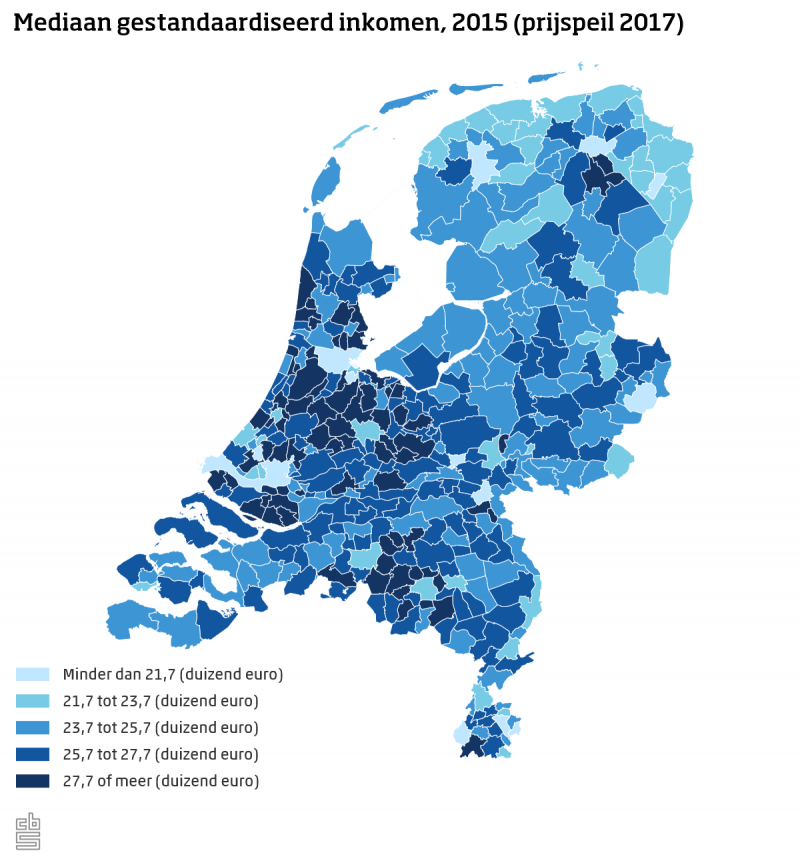 'Rijken wonen in randgemeente grote stad' (Foto: Centraal Bureau voor de Statistiek)