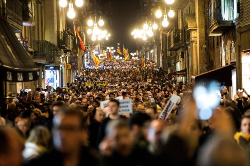 Catalaanse separatisten zondag de straat op