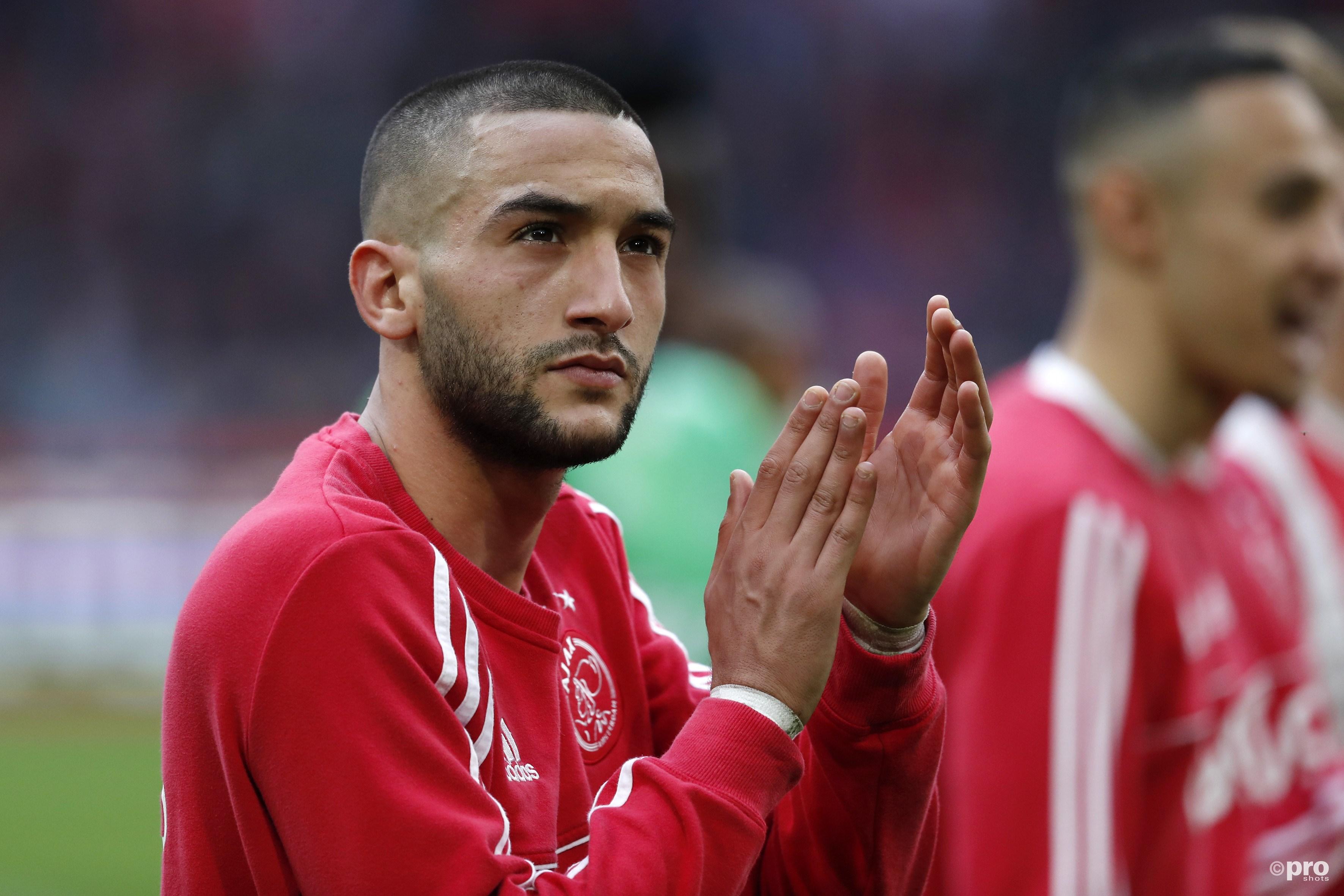 Hakim Ziyech, man van de wedstrijd. (PRO SHOTS/Stanley Gontha)