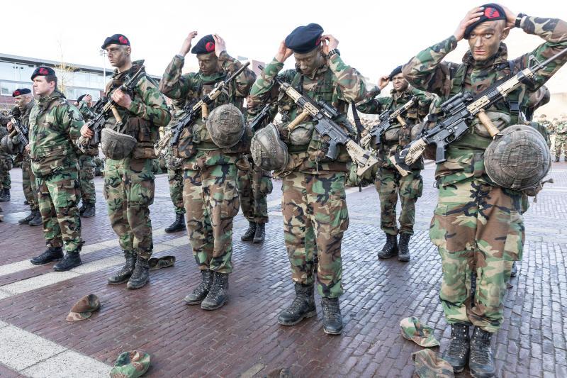Nieuwe lichting mariniers  (Foto: Ministerie van Defensie)