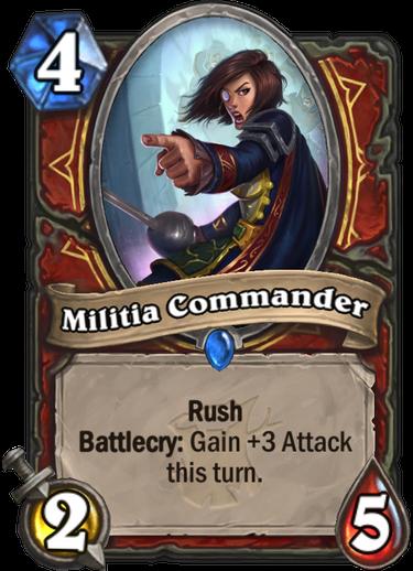 Militia Commander Hearthstone