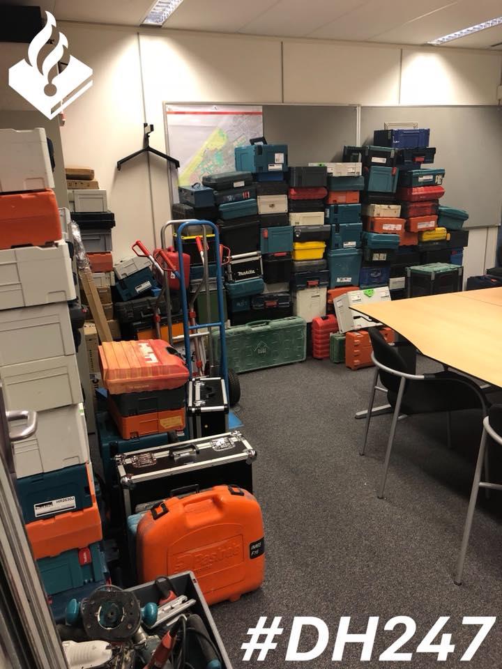 Politie vindt grote buit gestolen gereedschap (Foto: Politie Loosduinen)