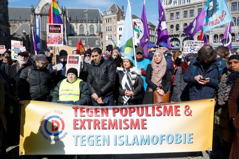 Honderden demonstreren tegen racisme