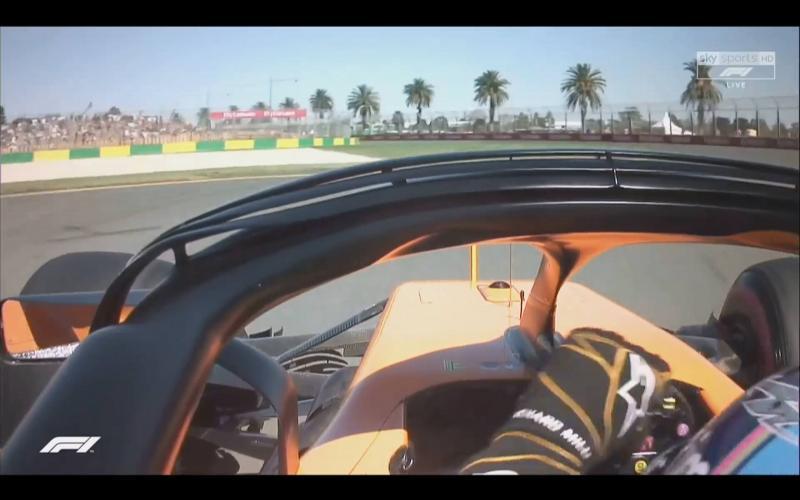 Onboardbeelden Formule 1 door de halo vrijwel onbruikbaar