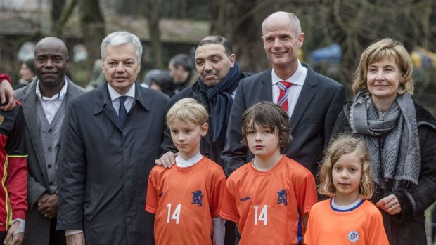 Pas geopend Cruyff Court in Molenbeek nu al vernield (foto: ANP)