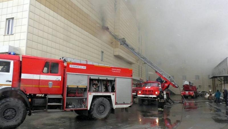 Veel doden en vermisten bij brand in winkelcentrum Siberië (Foto: ANP)