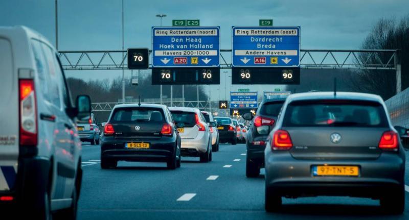 Verkeersellende rond Rotterdam
