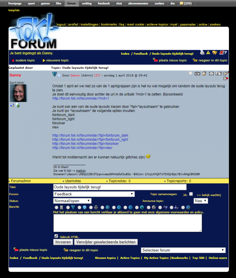 Het forum in 2000