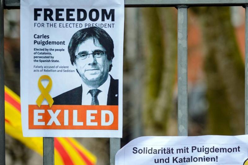 Duitsland behandelt uitlevering Puigdemont