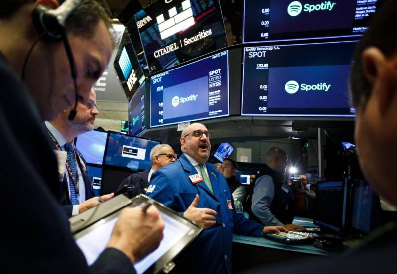 Openingskoers Spotify op 165,90 dollar