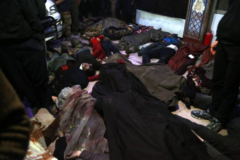 EU roept om reactie 'chemische aanval' Syrië