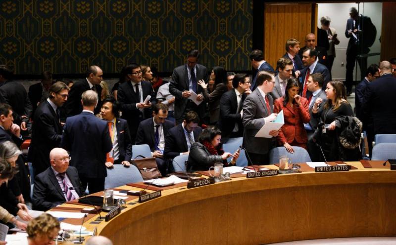 Westen en Rusland tegenover elkaar in VN-raad