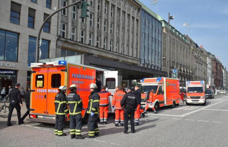 Man steekt ex en kind dood op perron Hamburg