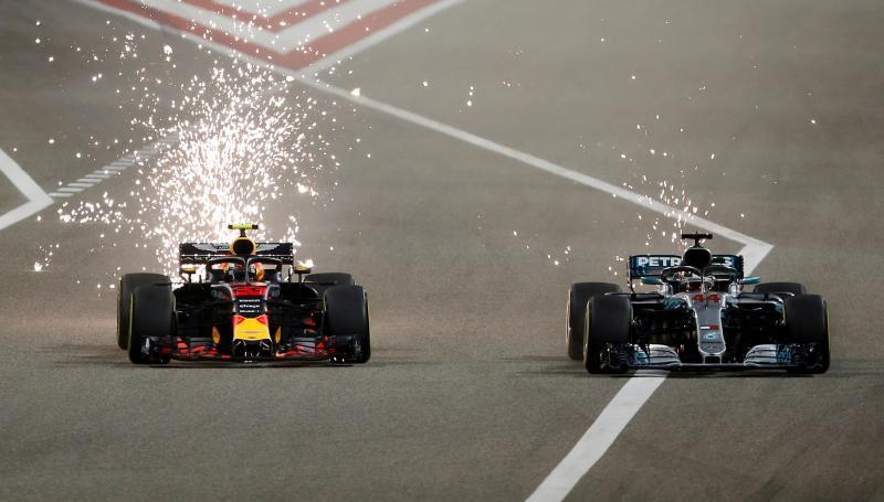Verstappen en Hamilton in duel in Bahrein (Pro Shots / Action Images)