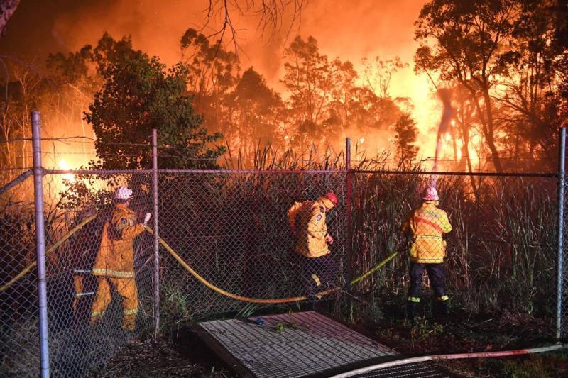 Grote bosbrand aan rand Sydney