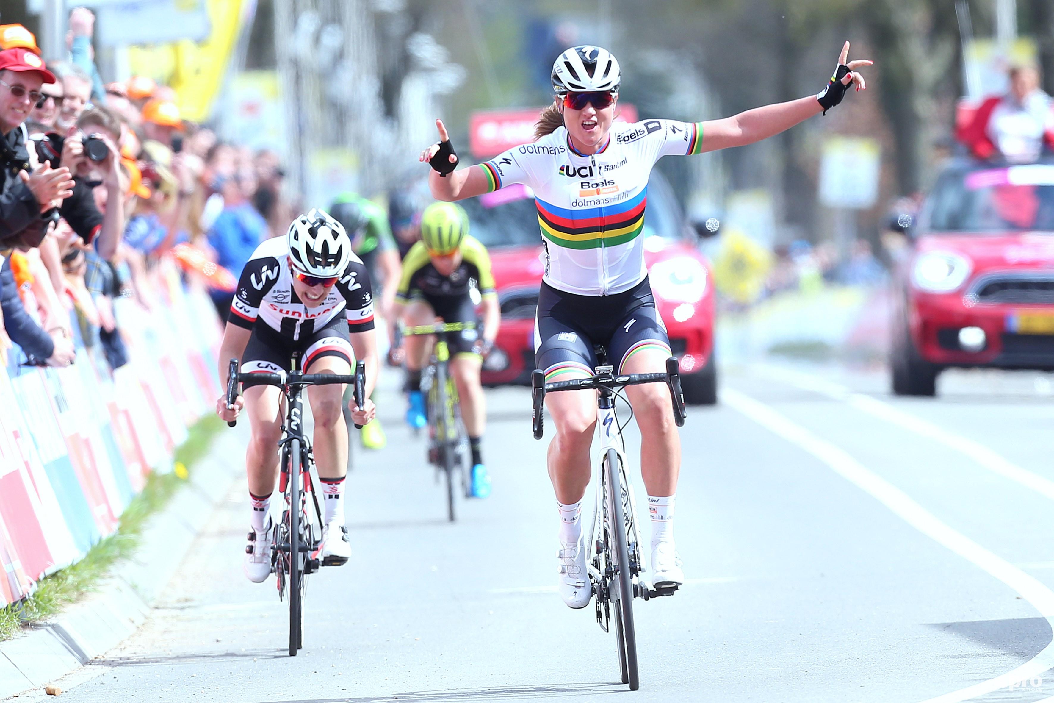 Chantal Blaak wint. (PRO SHOTS/George Deswijzen)