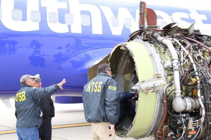 Controles vliegtuigmotoren na horrorvlucht