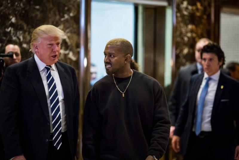 Kanye West 'houdt' van Donald Trump