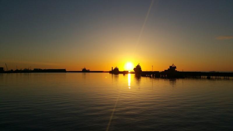 Petershead bij zonsopkomst (Foto: Interpretatie)