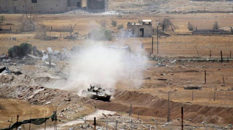 Raketaanvallen op bases in Syrië