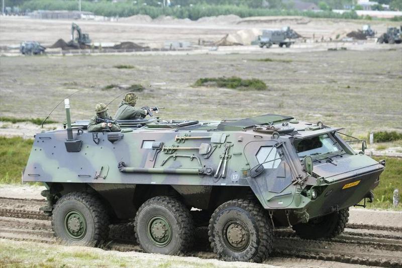 Een van de huidige Fuchs-pantserwielvoertuigen (Foto: Ministerie van Defensie)