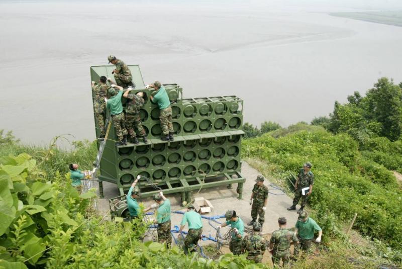 Ook Noord-Korea ontmantelt speakers aan grens