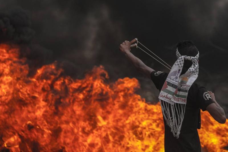 'Veel gewonden door onrust bij grenshek Gaza'