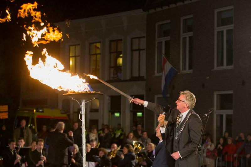 Bevrijdingsvuur laait op in Wageningen