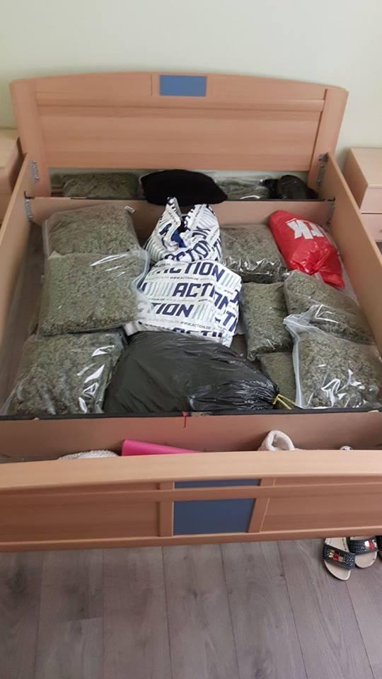 Politie vindt 15kg hennep onder bed (Foto: Politie Bergen op Zoom)