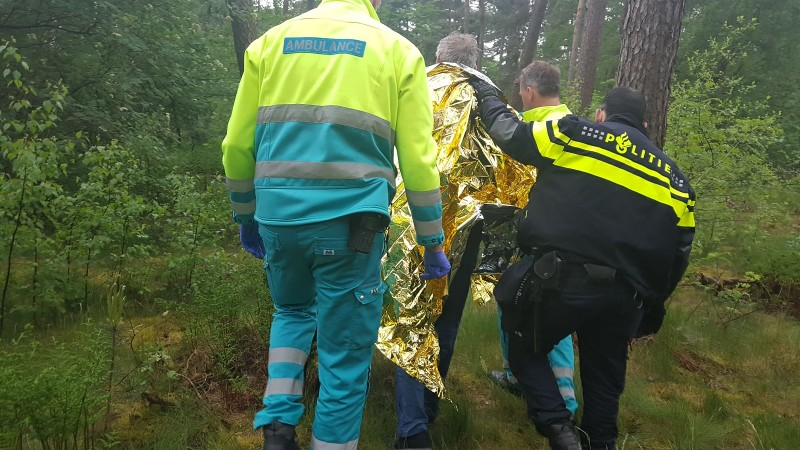 Man uren vermist na ongeluk (Foto: politie.nl)