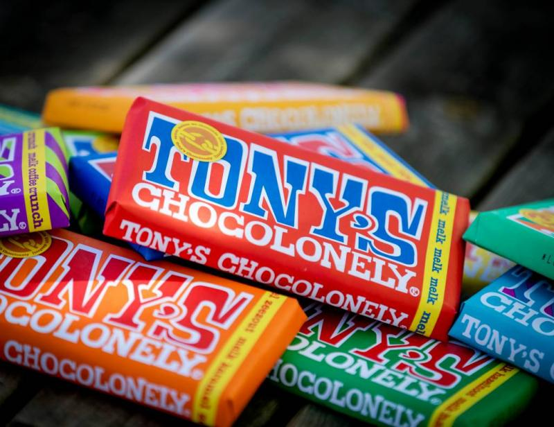 Borstelharen in repen Tony's Chocolonely