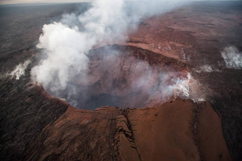 Explosieve uitbarsting vulkaan Kilauea