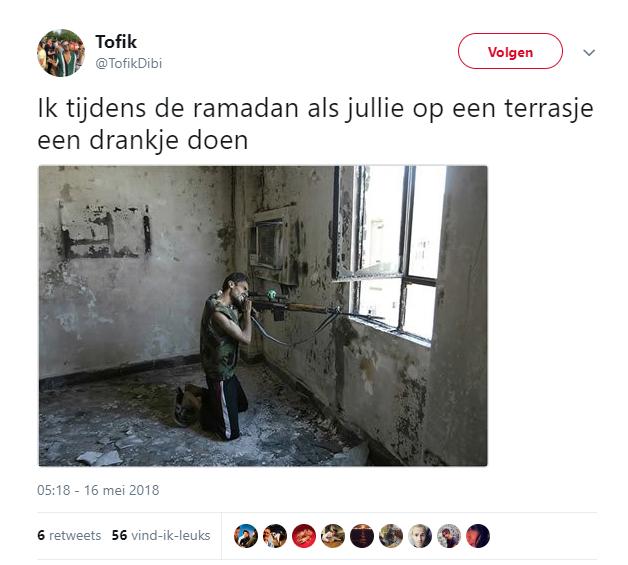 Tofik Dibi gaat terrasgangers sniperen tijdens Ramadan