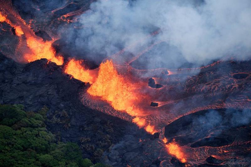 Vulkaan Hawaii blijft problemen geven