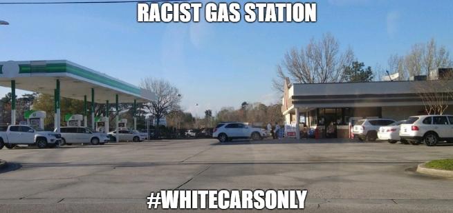 Racistisch benzinestation