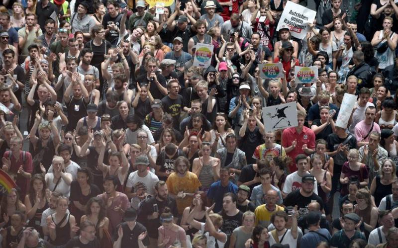 Meer tegenbetogers dan aanhang AfD in Berlijn