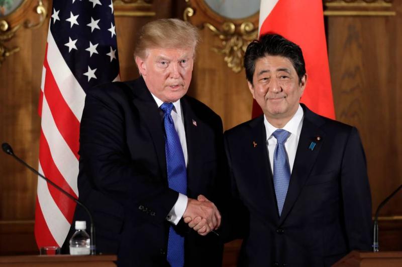 Trump ontmoet Abe nog voor Korea-top
