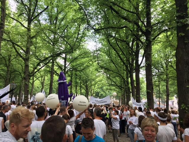 Veel animo voor #actiefysio in Den Haag  (Foto: Kinderpraktijk Madelief )