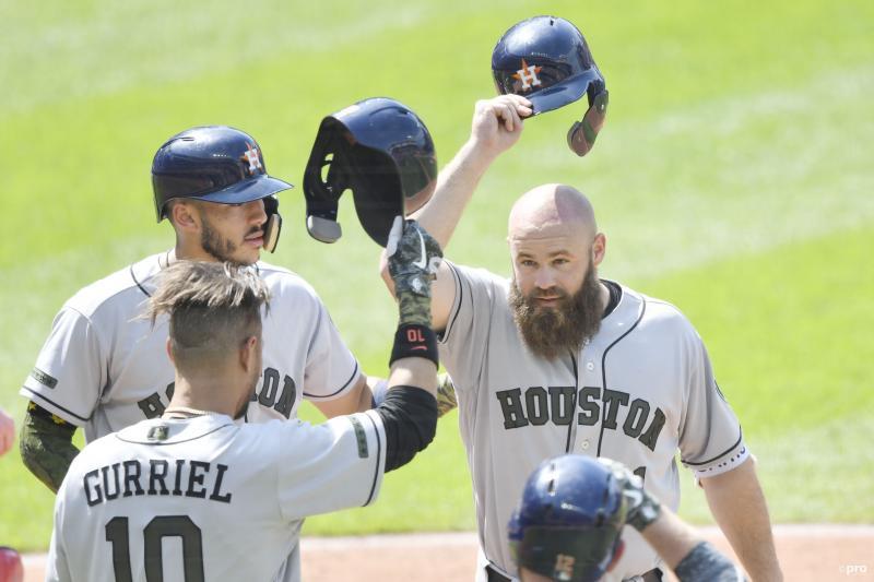 We troffen de Houston Astros-honkballers op dit opmerkelijke moment, wat is hier gaande? (Pro Shots / Action Images)
