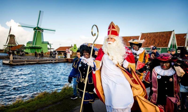 Intocht Sinterklaas bij Zaanse Schans