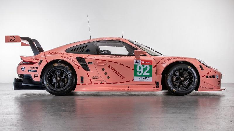 2018 24 uren van Le Mans Porsche 911 RSR 'Pink Pig'