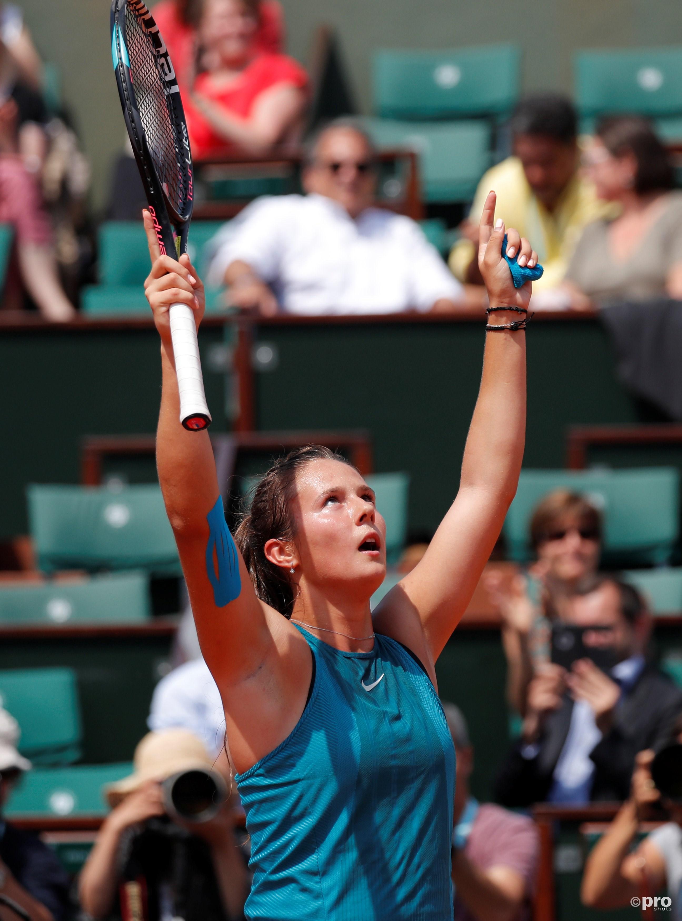 Kasatkina mag haar eerste kwartfinale gaan spelen op een Grand Slam (Pro Shots/Action Images)