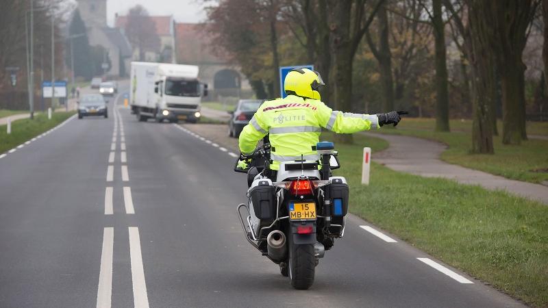Motoragent gewond na achtervolging (Foto: Stockfoto politie.nl)
