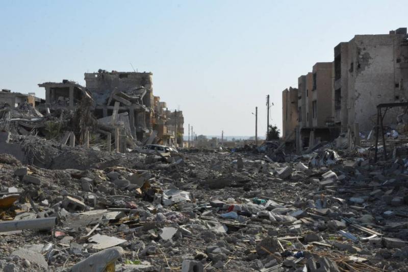 'Anti-IS coalitie verwoestte Raqqa'