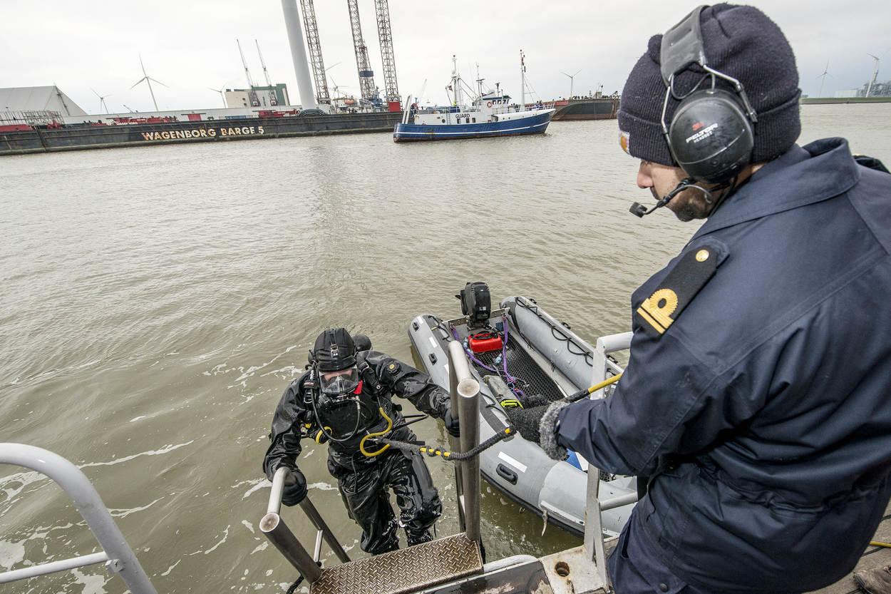 Archieffoto duiker van de Marine (Foto: Ministerie van Defensie)