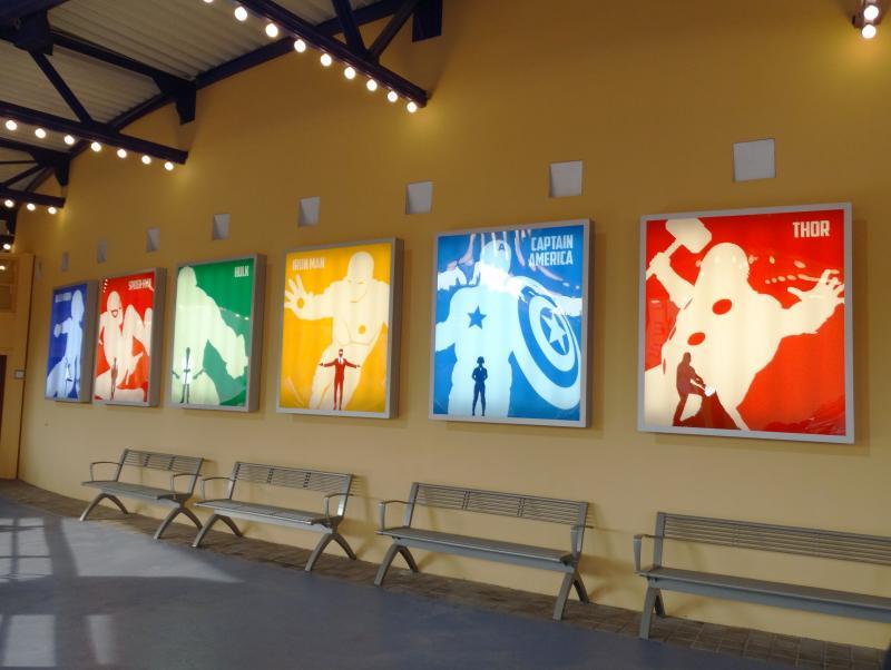 Marvel Superhelden Zomer: het Studio Theater is nu helemaal in Marvel-stijl